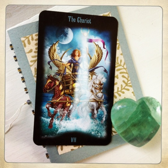 The Chariot from Gateway to the Divine Tarot Deck