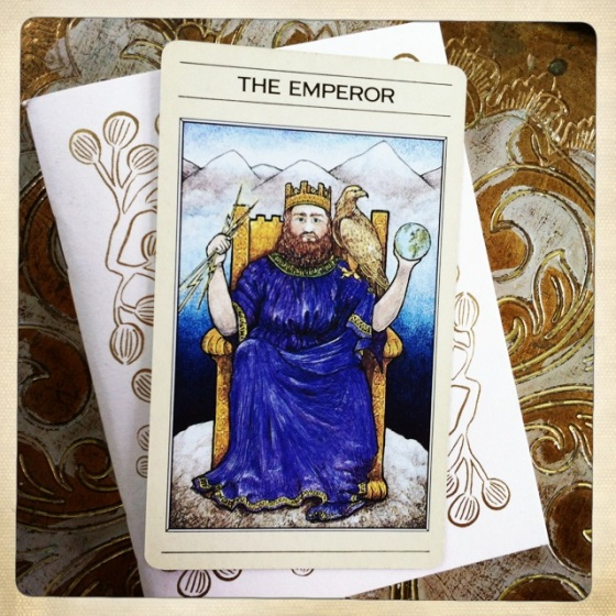 The Emperor from the old edition of the Mythic Tarot