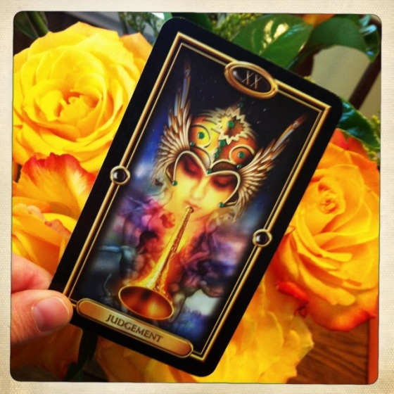 Judgement from the Gilded Tarot