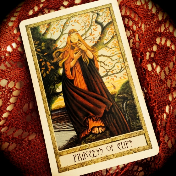 The Princess of Cups from the Druid Craft Tarot